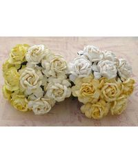 Curved Roses Combo - WHITE/CREAM Tone