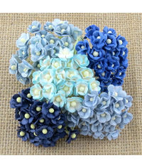 Blue - 100 MINIATURE MIXED SWEETHEART BLOSSOM FLOWERS