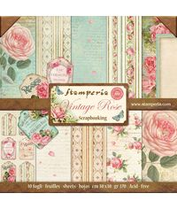 "Vintage Rose 12"" X 12"" Paper Pad 10 Sheet/Pack"