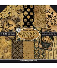 "Steampunk Fantasy 12"" X 12"" Paper Pad 10 Sheet/Pack"