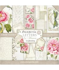 "Letters & Flowers 12"" X 12"" Paper Pad 10 Sheet/Pack"