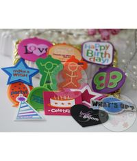 Silicon Birthday Tags