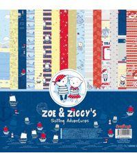 """Zoe & Ziggy's Sailing Adventures 12""""x12"""" Paper"""