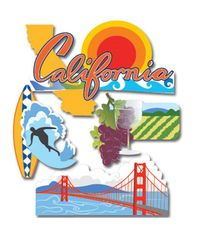 California 3D Sticker