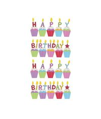 Birthday Cakes Glitter Classic Stickers