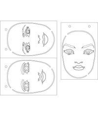 """Let's Face It - Stencil 6"""" X 9"""""""