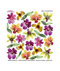 Colored Orchid - Printed Plastic sheet