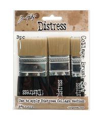 "Distress Collage Brush Assortment - 1 Each Of 3/4"", 1-1/4"" & 1-3/4"""