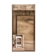 Wooden Vignette Trays - Brown
