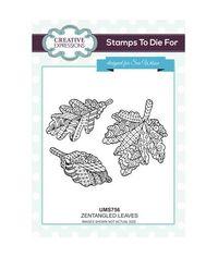 Zentangled Leaves Stamp