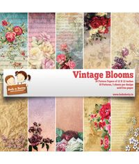 "Vintage Blooms 12""X12"", 30/pkg"