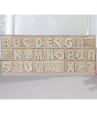 Wooden Alphabets #1 - 130 Pcs/Pack