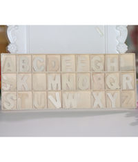 Wooden Alphabets #2 - 156 Pcs/Pack