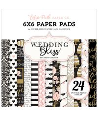 """Wedding Bliss  Echo Park Double-Sided Paper Pad 6""""X6"""" 24/Pkg"""