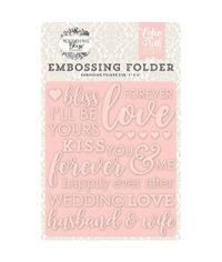Wedding Bliss, Forever Love - Embossing Folder