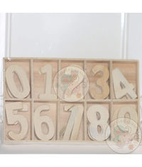 Wooden Numerals - 60 Pcs/Pack