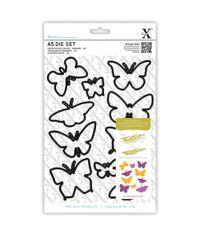 Butterflies Xcut A5 Dies 10/Pkg
