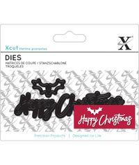Happy Christmas Sentiment - Die