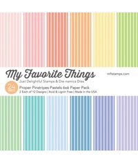 "Proper Pinstripes Pastels  6"" x 6"" Paper Pack"