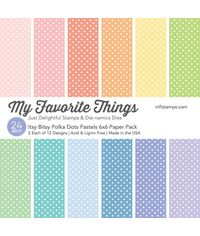 "Itsy Bitsy Polka Dots Pastels Paper Pack 6"" x 6"""