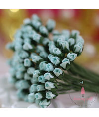 Micro Rose Buds - Soft Blue