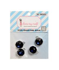 Crystal Hexagon Charm - Ink Blue