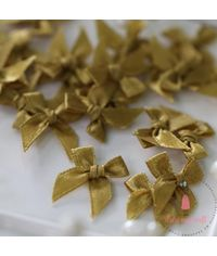 Ribbons Bow - Golden Beige