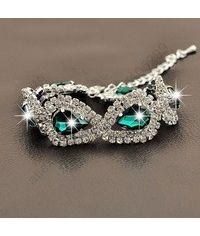 925 Sterling Silver SWA Element Austrian Crystal Water Drop Bracelet