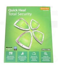 Quick Heal Security 3 PC 1 Year With Software DVD.