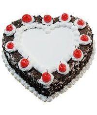 Heart Shaped Blackforest Cake