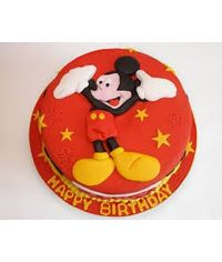 Mickey Mouse Cake Flat