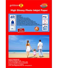 GoColor High Glossy Inkjet Paper 180 Gsm 4R 4X6  100 Sheets