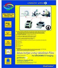 GoColor Inkjet XRay Medical Blue Film For DR/CR/MRI/CT Imaging RC Waterproff Film 8 X 10 Size 20 Sheet 280 GSM