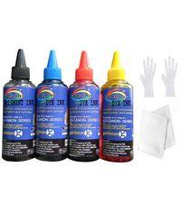 GoColor HP Premium High Quality Inkjet Refill Ink Black Pigment & C/M/Y Dye Ink 100 Ml X 4 Colors