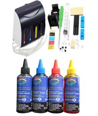 GoColor Empty Continuous Ink Tank Supply System CISS Kit Compatible for Canon Inkjet Printer + 70 Ml Ink 4 Colors