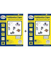 GoColor Sublimation Inkjet Paper 100 GSM A4 100 Sheet X 2 Packs Combo