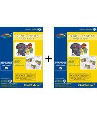 Gocolor TShirt Transfer Inkjet Paper Light Fabrics X 2 Packs Combo