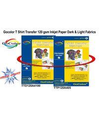 Gocolor TShirt Transfer Inkjet Paper Light & Dark Fabrics Combo Packs ( Make custom Tshirts at home! As simple as 1-2-3)