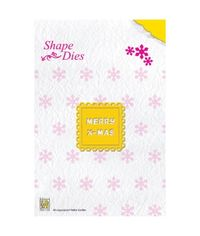 Nellie's Choice Shape Die -Merry Christmas Text