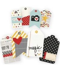 Say Cheese II Layered Stitched Tags 8/Pkg - 2 Sizes