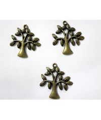 Assorted Vintage Tree  Metal Charms  (5 pcs)