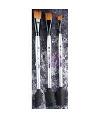 Finnabair Art Basics Double-Ended Brush Set 3/Pkg - Texture #1