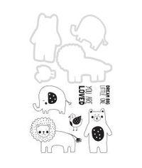 Kaisercraft Dies & Stamps - Baby Animals .75