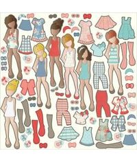 Paper Dolls Ephemera By Julie Nutting