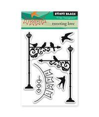 Penny Black - Clear Stamp - Tweeting Love
