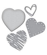 Spellbinders Shapeabilities Die D-Lites - Hearts