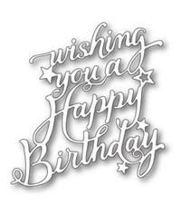 Memory Box Die - Happy Birthday Elegant Script