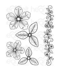 Heartfelt Creations Cling Rubber Stamp Set - Large Classic Petunia 1.25