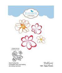 Elizabeth Craft Metal Die By Modascrap Designs - Happy Flowers