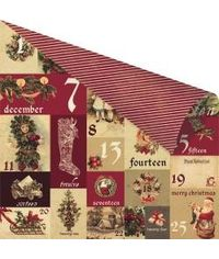 A Victorian Christmas Double-Sided Foiled Cardstock 12